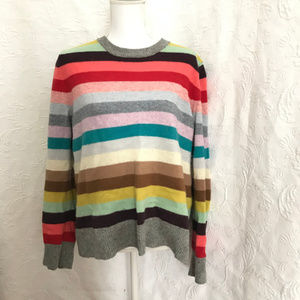 Gap Lambswool Blend Multicolor Striped Sweater